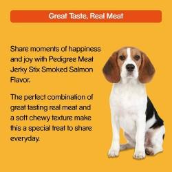 Pedigree Meat Jerky Stix Adult Dog Treat Gift Smoked Salmon 60g Pouch