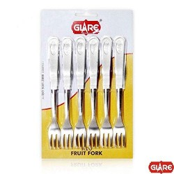 Glare Fruit Fork 6 Pcs Set - Rio White