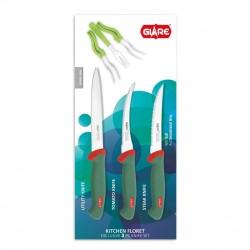 GLARE Kitchen Floret Exclusive 3 Pcs Knife Set