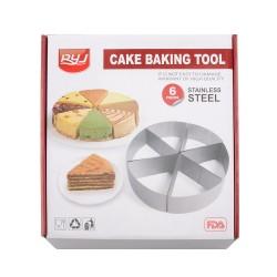 Ryj Stainless steel round cake cutting mold cake slicer kitchen baking tool spot