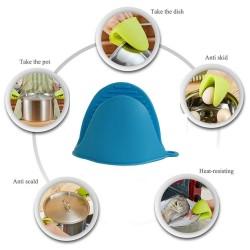 Hua you 2 Pcs Silicone Pinch Grip Mitten Oven Mitt Gripper Grip Kitchen Potholder Utensil Tool 1 Set