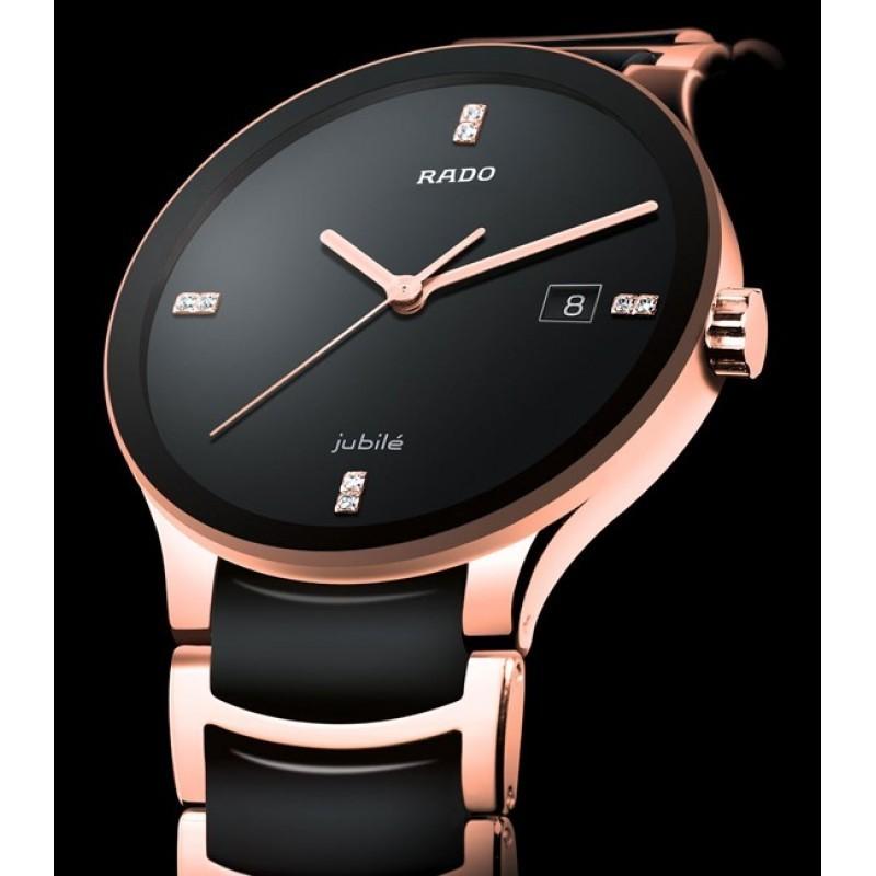 Rado Watches for men black rosegold