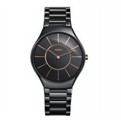 Rado Trueline Thin Quartz Black Ceramic Men's Watch