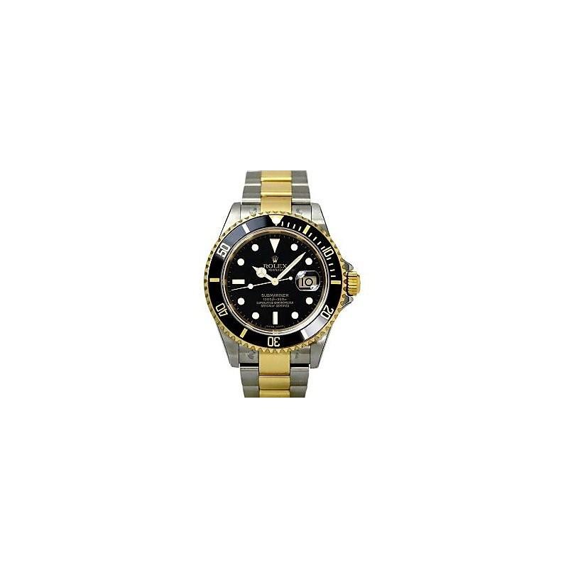 Rolex watch for men submariner black dual tone