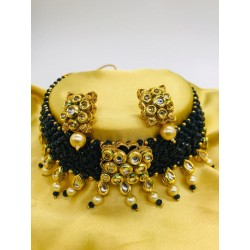 Shastta trendz Kundan Choker Necklace Set for girls and women