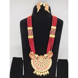 Shastta trendz Kundan Pendant Meena Set