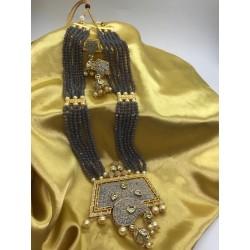 Shastta trendz Grey Mena long necklace for women
