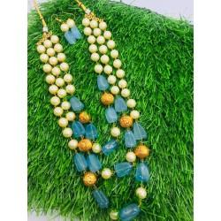 Shastta Trendz 3 Layer Blue String