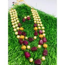 Shastta trendz 3 layer maroon string