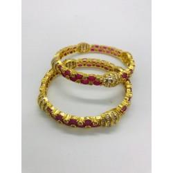 Shastta trendz American Diamond and Ruby Stone Bangles