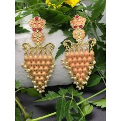 Shastta trendz Peach Grape Vine Earrings