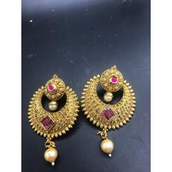 Shastta trendz golden ruby chand bali