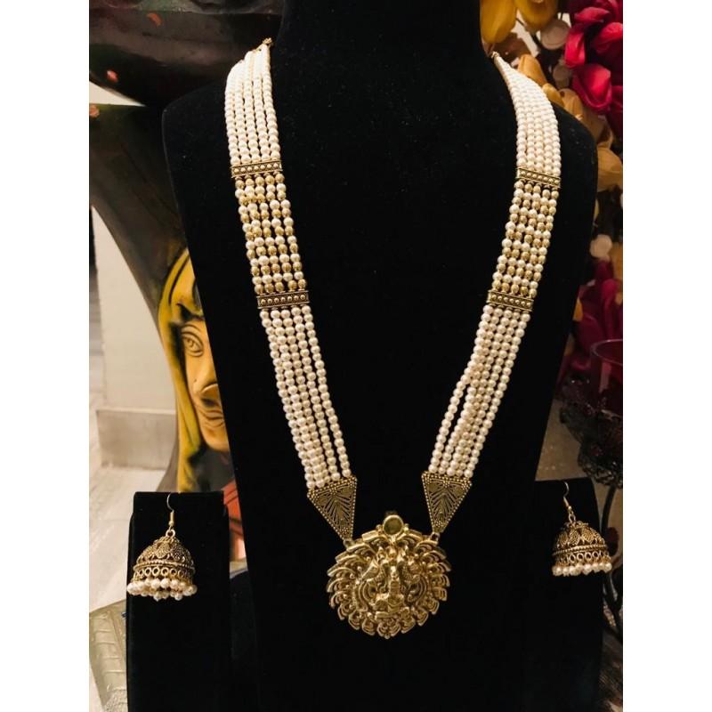 Shastta trendz temple jewellery pearl rani haar
