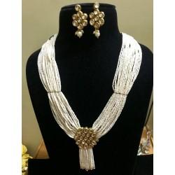 Shastta trendz white necklace in kundan for girls and women