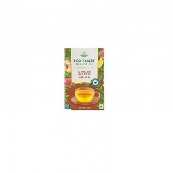Eco Valley Organic Green Tea Ginger Lemon and Mulethi 30 Tea