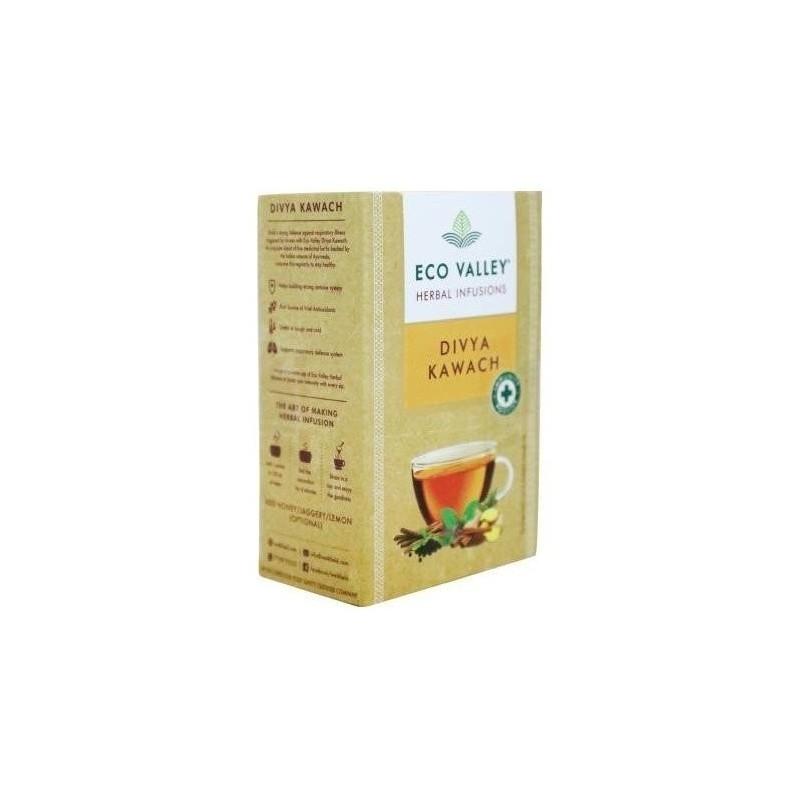 Eco Valley Divya Kawach Herbal Infusion 15 Tea Bags