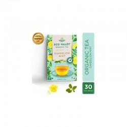 Eco Valley Organic Green Tea Dandelion And Mint 30 Tea Bags