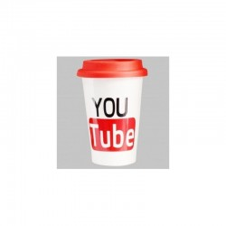 YouTube Social Media Plastic Coffee Mug