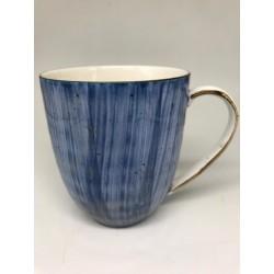 Henniger House Of Luxury Blue Matte Ceramic Coffee Mug Set Of 4