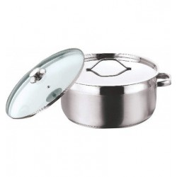 Vinod Stainless Steel Two Tone Saucepot with SS Lid No Glass Lid 18 cm 2.3 Ltr Induction Friendly