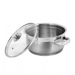 Vinod Stainless Steel Bremen Saucepot with Glass Lid 20 cm 3 Ltrs