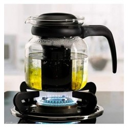 Borosil Carafe Flame Proof Glass Kettle With Stainer 1L