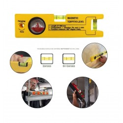 RAJIEKART MAGNETIC TORPEDO LEVEL 8-INCH WITH 1 DIRECTION PIN, 2 VIALS AND 360 DEGREE VIEW