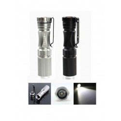 MECO XPE-Q5 600 LUMEN 7W ZOOMABLE LED FLASHLIGHT (BLACK AND SILVER COLOR)