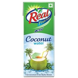Real Activ 100% Coconut Water Tetra Pack  Pouch 200 ml pack of 9