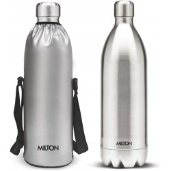 Milton bottle Thermosteel Stainless Steel Duo Dlx 1800ml Water Bottle with Jacket 24 hours Hot or Cold