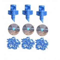 RAJIEKART BLUE 90 DEGREE REFRACTION MISTING DRIP NOZZLE HYDROPONIC AEROPONIC MISTING EMITTERS SPRAYERS 50 PCS