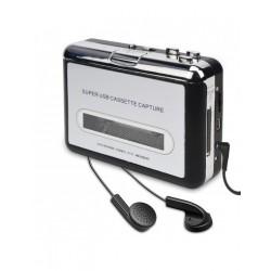 Ezcap Cassette Player Portable Tape Player Captures MP3 Audio Music Convert Walkman Tape Cassettes to iPod Format (EZCAP to PC)
