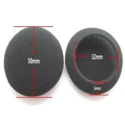Rajiekart 2pcs/pair 5cm Foam Ear pads For headphones PC130 PC131 PX80 PX100 H500 Thicken Big Ear Pad Foam Earbud sponge Cover