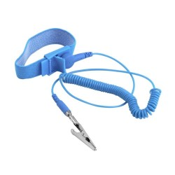 Anti-Static [ESD] Safe Discharge Wristband Wrist Strap band Grounding Cord Tool- Blue