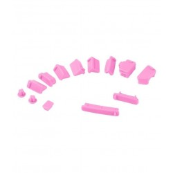 Rajiekart 13 PIECES SILICONE ANTI DUST PLUG STOPPER SET FOR LAPTOP NOTEBOOK PINK