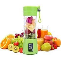 USB Rechargeable Juicer Fruit and Vegetable Juice  Mixer Blender Bottle 380 ml Portable Electric/Battery