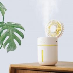 T9 Portable Creative Spray Humidifier Fan LED Light Fan 3 in 1 Handheld USB Mini Fans