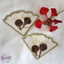 Decor Hibiscus Irregular Agate Coasters