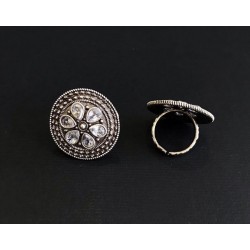 Anaghya Dual Tone Oxidized ring For Girls And Women