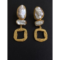anaghya baroque pearl earrings in white for girls and women