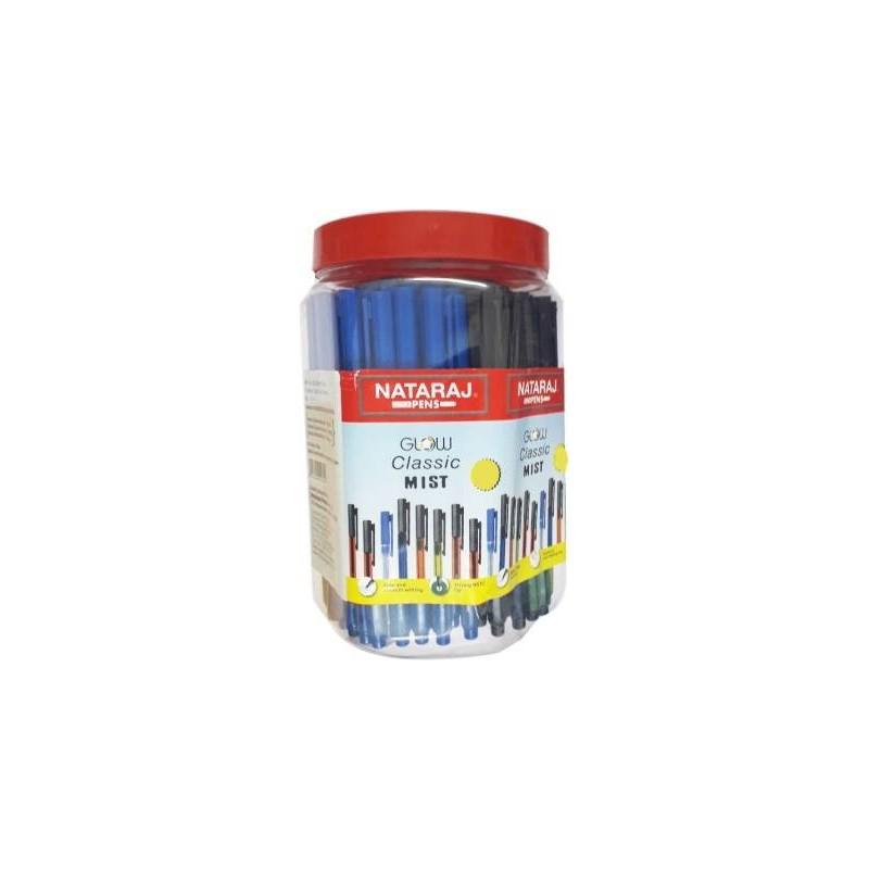 Nataraj 100 Glow Classic Mist Pen Jar Ball Pen Pack Of 100