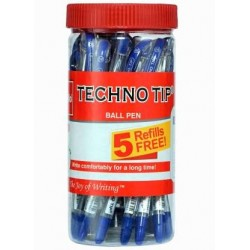 Cello Technotip Ball Pen Pack of 20 and 5 Reffils Free