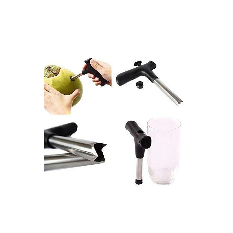 VANCRI KITCHENWARE ARTICLES TICLES Stainless Steel Young Water Punch Tap Drill Straw Hole Open Coconut Tool Opener