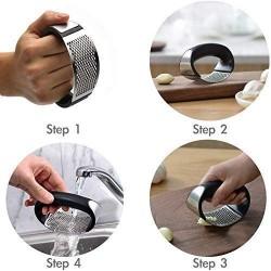 Garlic Press Rocker Premium Garlic Press Stainless Steel Easy Operate and Clean Kitchen Gadget