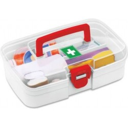 Milton First Aid Box 1000 Ml Plastic Utility Container Red White