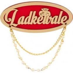 Fancy Sherwani Wedding Blazer Brooch For Men Ladkewale Brooch Red Gold