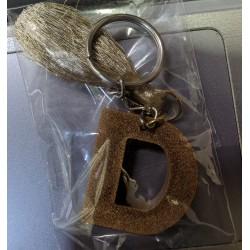 Alphabet Letter D Brass Keychain For Your Car Bike Home Office Keys Men Women Boys Girls Colour Brown
