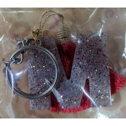 Sparkle Alphabet Letter D Brass Keychain For Your Car Bike Home Office Keys Men Women Boys Girls
