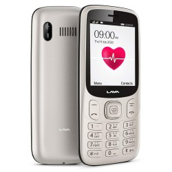 Lava Pulse Mobile Phone with BP & Heart Rate Monitor Gold